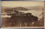 Bird's eye view of Fort Couer d'Alene and the Lake, Idaho