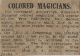 Colored magicians