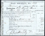 Tax Receipt, No. 1852