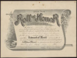 Roll of Honor [Certificate]