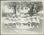 African American children at wedding