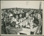 African American children at lunch, cafeteria