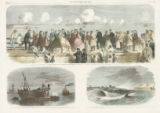 """The Civil War in America: Attack by the Federal Ironclads on the Harbour Defences of..."