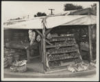 Assembly Street, stall with homemade display cases, 1946