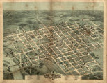 1872 Bird's Eye View of Columbia