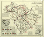 1917 Official Map of South Carolina