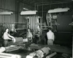 Cloth room in Woodhead Division of the Graniteville Manufacturing Company