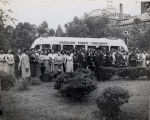 Photograph, 1947 or 1948, (Columbia, S.C.), of summer school group on tour at Allen University