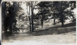 Path down the hill to B'way [Broadway?] West Hill, July 1910.