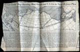 """""Great Circle"""" Map Showing How Orient and U.S. Lie in Naval Defense Plan'"