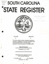 South Carolina state register, volume 2, issue 4, February 13, 1978