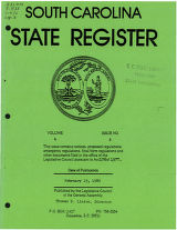 South Carolina state register, volume 4, issue 2, February 15, 1980