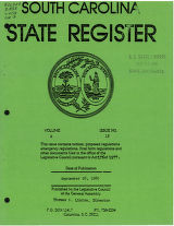 South Carolina state register, volume 4, issue 18, September 26, 1980