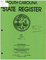 South Carolina state register, volume 4, index, issues 1-12, July 29, 1980