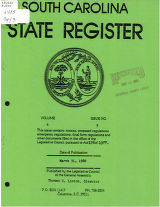 South Carolina state register, volume 4, issue 5, March 31, 1980