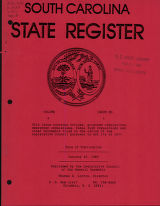 South Carolina state register, volume 9, issue 1, January 25, 1985