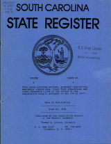 South Carolina state register, volume 8, issue 6, June 22, 1984