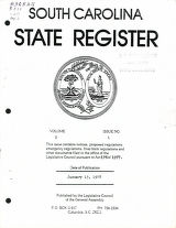 South Carolina state register, volume 2, issue 1,  January 13, 1978