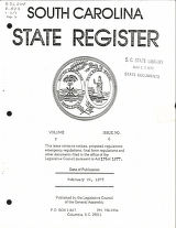 South Carolina state register, volume 2, issue 6, February 24, 1978