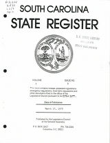 South Carolina state register, volume 2, issue 8, March 17, 1978