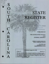 South Carolina state register, volume 15, issue 8, August 23, 1991