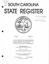 South Carolina state register, volume 2, issue 12, April 21, 1978
