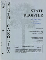 South Carolina state register, volume 16, issue 3, March 27, 1992