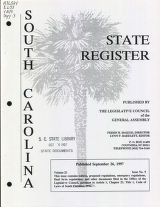 South Carolina state register, volume 21, issue 9, September 26, 1997