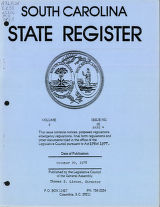 South Carolina state register, volume 2, issue 26, part 4, October 20, 1978
