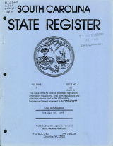 South Carolina state register, volume 2, issue 26, part 1, October 20, 1978