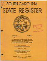 South Carolina state register, volume 3, issue 9, April 27, 1979