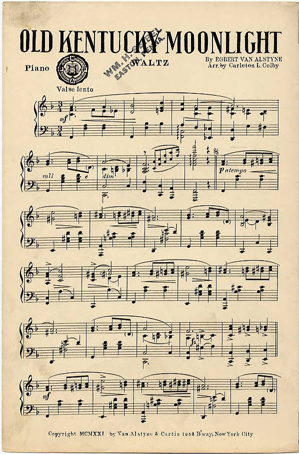 Page 1 - Tin Pan Alley Sheet Music Collection - CONTENTdm Title