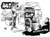 Auction, cartoon